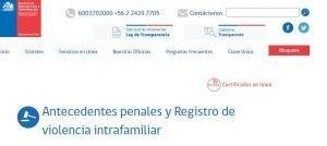 solicitud certificado antecendentes violencia intrafamiliar penales laborales en linea